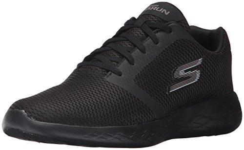 Skechers Go Run 600-Refine, Scarpe Sportive Indoor Uomo, Nero (Black), 43 EU
