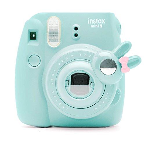 Cute Bunny Selfie and Close Up Lens Shot Mirror for Fujifilm Instax Mini9 Mini 8 Mini10s Hellokitty Instant Camera (Ice Blue)