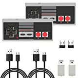 nes retro classic controller usb - 2 Pack NES Wireless Controller, AGPTEK NES Classic Controller Wireless for Nintendo Classic Mini Edition and PC,No-Wired Gamepad Joypad Support Windows/Mac OS/Linux