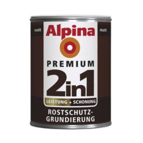 Alpina 2in1 Rostschutz-Grundierung Weiss Matt 2 Liter