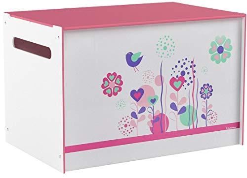 Spielzeugtruhe Worlds Apart Blumen und Vögel, weiß, 60×39,5×39,5cm - 6