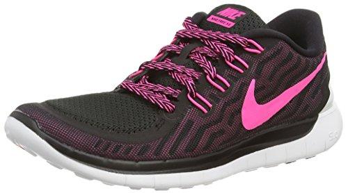 Nike Free 5.0 Damen Laufschuhe,Mehrfabig (Black/Pink Pow/Pnk Fl/Pnk Glw),40 EU