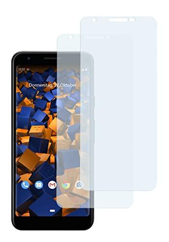 mumbi Schutzfolie kompatibel mit Google Pixel 3a XL Folie klar, Bildschirmschutzfolie (2X)