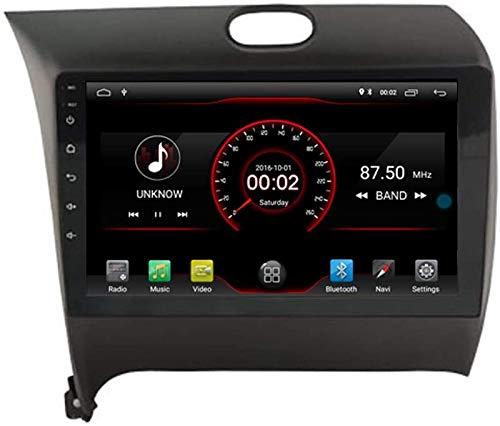 Coche GPS DVD Player Head para KIA CERATO Forte K3 2013-2017 Control De La Dirección del Volante Android Navi Radio Multimedia WiFi Incorporada Carplay con Cable,8core 4g WiFi:2+32gb