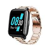 LvBu Cinturino Compatibile con UMIDIGI Uwatch3, Cinturino in Metallo Massiccio in Acciaio Inossidabile Cinturino a sgancio rapido Bracciale per UMIDIGI Uwatch 3/ ufit/uwatch GT Smartwatch (Oro Rosa)