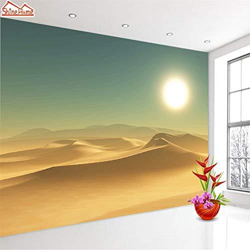 Murale Grand Papier Peint Fait Sur Commande 3D Salon Paysage De Coucher De Soleil Sur Le Désert Tableau De Bureau Abstrait De Mur De Papier Peint À La Maison, 308X220Cm