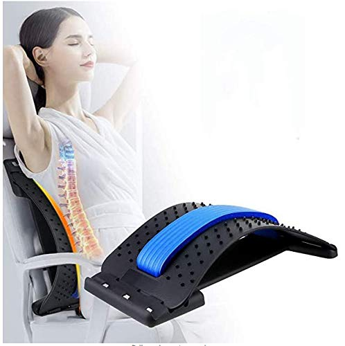 Back Stretcher, CHARMINER Back Stretcher for Pain Relief, Lower Back Stretcher, Multi-Level Lumbar...