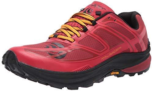 Topo Athletic Men's MTN Racer Trail Running Shoe, Red/Orange, Size 11