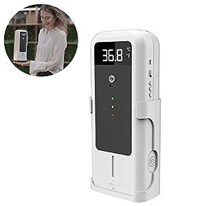 WX – Macchina per la misurazione e la disinfezione della temperatura, dispenser di sapone con sensore automatico, termometro portatile, adatto per supermercati, scuole, uffici