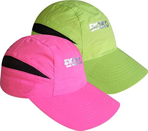 EKEKO Pack x 2 Unidades Gorra T Race, Gorra de Running, Playa y Deportes en General. con Goma de sujecion