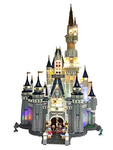 Deluxe LED Lighting Kit Fits Your Lego Disney Castle 71040 - (Lego Set is NOT Included!!!!!! Read: no Lego Brick Set Included)
