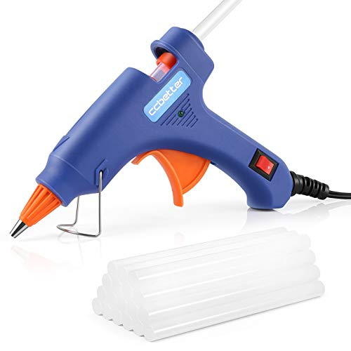 CCBETTER Mini Hot Melt Glue Gun with 30pcs Glue Sticks