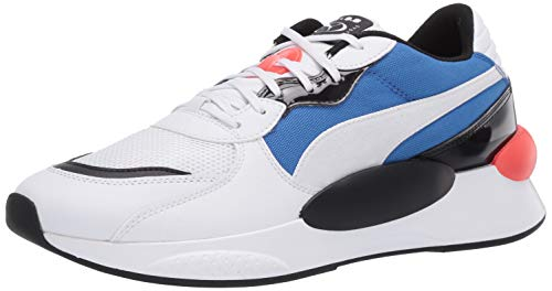 PUMA RS 9.8 Sneaker, White-Palace Blue, 10 M US