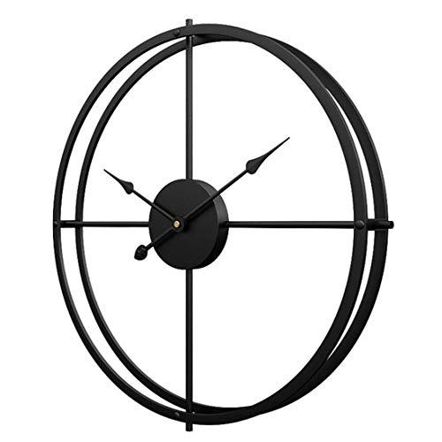 YVX Reloj de Pared Grande de 60 CM Vintage XXL, Reloj de Pared de Metal silencioso Que no Hace tictac, Arte Simple para la decoración de la Cocina de la Oficina de la Sala de Estar