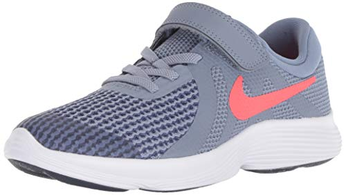 Nike Revolution 4 (Psv) Zapatillas de Running Niño, Multicolor (Ashen Slate/Flash Crimson/Diffused Blue 400), 32 EU