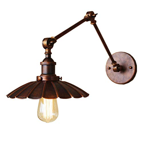 SSMDYLYM Cable de lámpara de Pared Aplique de Pared Industrial y Acabado, con Interruptor de Encendido/Apagado Luz de Base Lámparas de Pared de Dormitorio Accesorios Lámpara de Lectura de cabecera