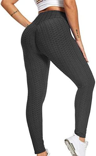 Iuulfex Workout Leggings Women Booty Yoga Pants Scrunch Butt Lifting Leggings Textured Sexy product image