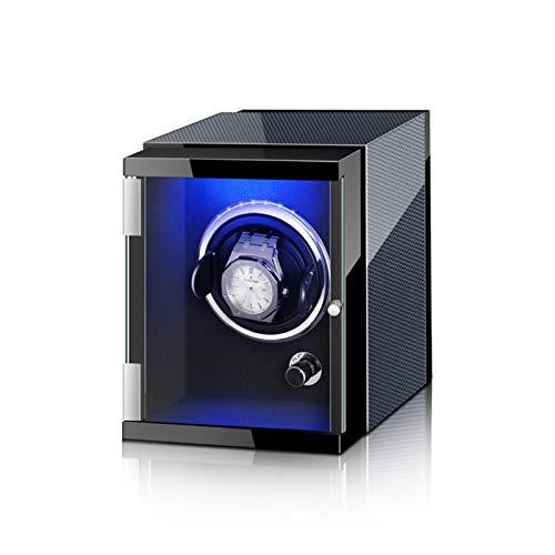 KHUY Scatola del Tempo per Orologi Automatici 1 Orologio, Watch Winder Motore 5 Impostazione modalità di Rotazione, Auto Porta Orologi Uomo Donna con Motore Silenzioso (Color : Black A)