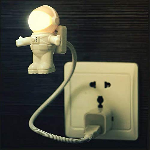 XHSHLID Spaceman Flexibele Astronaut USB-tube LED nachtlampje voor lamp laptop PC notebook laptop lezen DC 5V lamp cartoon