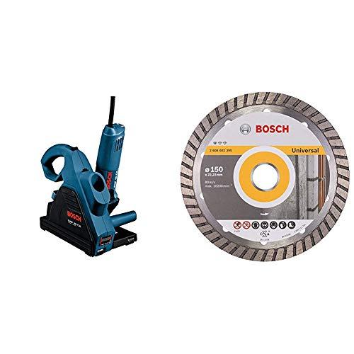 Bosch Professional Mauernutfräse GNF 35 CA (1400 Watt, Scheiben-Ø: 150 mm, 7x Distanzscheibe, im Koffer) + Bosch Professional Diamanttrennscheibe (für Stein, Ø: 150 mm, BohrungsØ: 22,23 mm, Zubehör für Winkelschleifer)