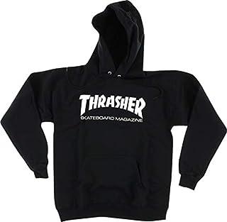Thrasher Magazine Logo Skate Mag Black Men's Hooded Sweatshirt - Large