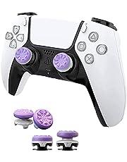 FPSフリーク PS4 PS5 コントローラー用 親指グリップキャップ 滑り止め RG 可動域アップ アシストキャップ 簡易パッケージ アシストキャップ ジョイスティックカバー For P5 / P4 保護カバー(2個セット紫)