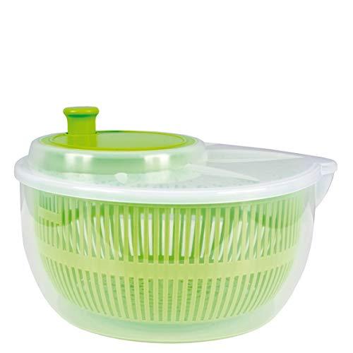 allaroundprofi24 Salatschleuder Salat Schleuder Salattrockner Salatmanager mit Kurbel Sieb Neu (Grün) + 1 Mikrofasertuch Vani
