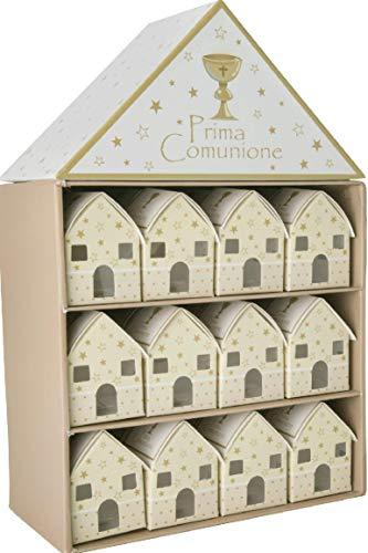 Box Casa Casetta PRIMA COMUNIONE con 24 scatoline portaconfetti BOMBONIE