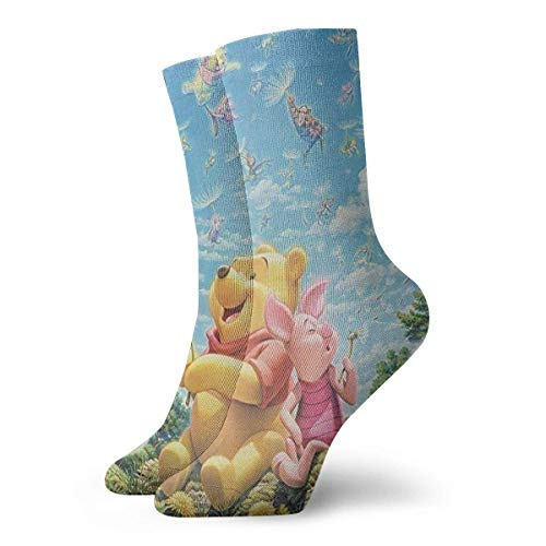 Mens Crew Socks Winnie The Pooh Quotes Painting Comprion Socks Cool Cushion Athletic Socks