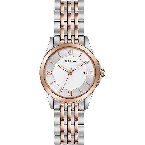 Bulova Damen Analog Quarz Uhr mit Edelstahl Armband 98M125