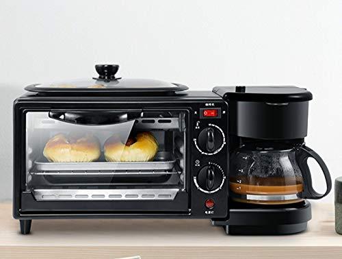 Minitostadora 3 en 1 eléctrica para desayuno, multifunción, sartén, horno, pan, pizza