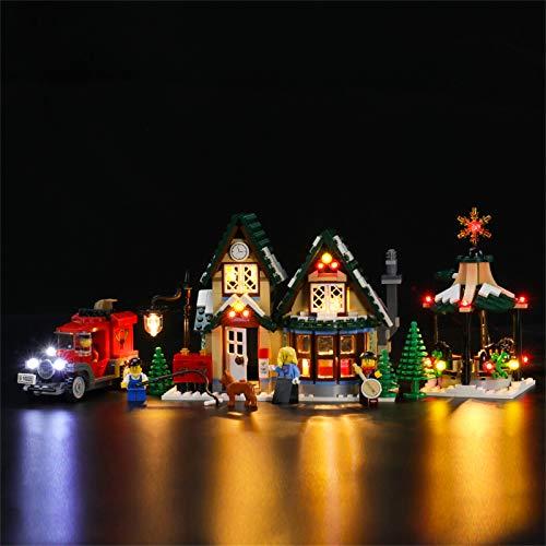 LIGHTAILING Conjunto de Luces (Creator La Oficina de Correos del Pueblo en Navidad) Modelo de Construcción de Bloques - Kit de luz LED Compatible con Lego 10222 (NO Incluido en el Modelo)