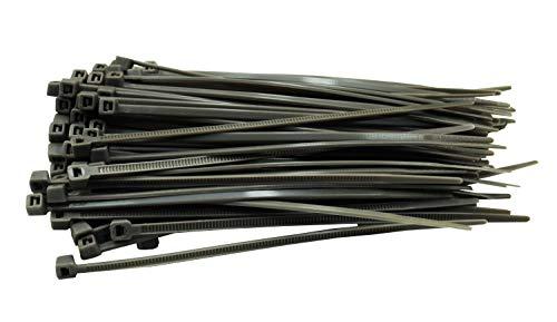100 Stück Kabelbinder grau 100 mm x 2,5 mm Handwerker Qualität cable ties kurz 8,1kg Zugkraft