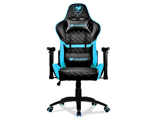 Cougar Armor One Sky Blue Gaming Chair with Reclining and Height Adjustment
