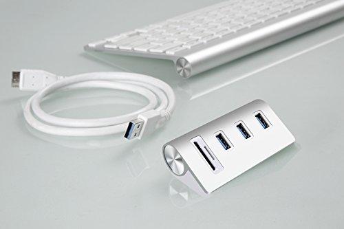 『Cateck 2スロットカードリーダーコンボ搭載バス電源供給 USB 3.0 3ポートハブ (iMac、MacBook Air、MacBook Pro、MacBook、Mac Mini、PC、ラップトップ対応)』の4枚目の画像
