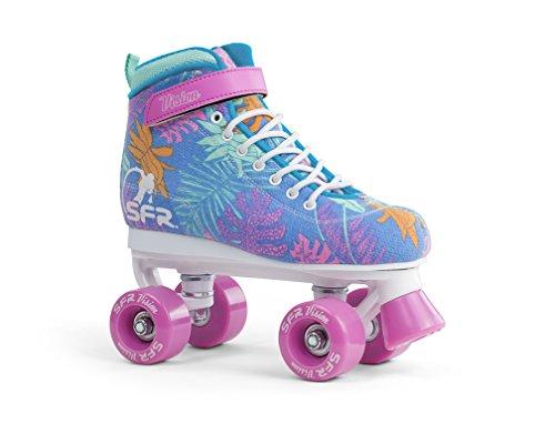 Sfr Skates Vision Canvas Skates Unisex Kinder Blau (Floral), 38