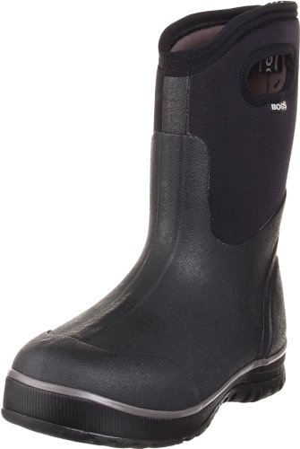 Bogs Men's Ultra Mid Insulated Waterproof Work Rain Boot, Black, 10 D(M) US