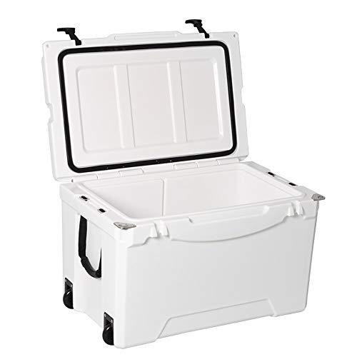 DQM geïsoleerde ijsbox voor vissen, 35 liter, premium koeler, hoge sterkte, ideaal voor jacht, vissen, kamperen, maakt je reis meer plezier.