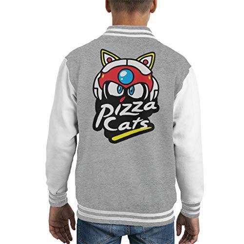 Cloud City 7 Samurai Pizza Cats Pizza Hut Logo Kid's Varsity Jacket