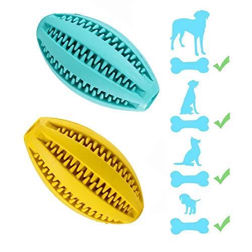 Hund Gummi Bälle (2 Pack) Leckage Esser Hund Zahn Reinigung Spielzeug Bälle Interaktive Spielzeuge Für Hunde Geeignet Für Alle Hunde,2Pack