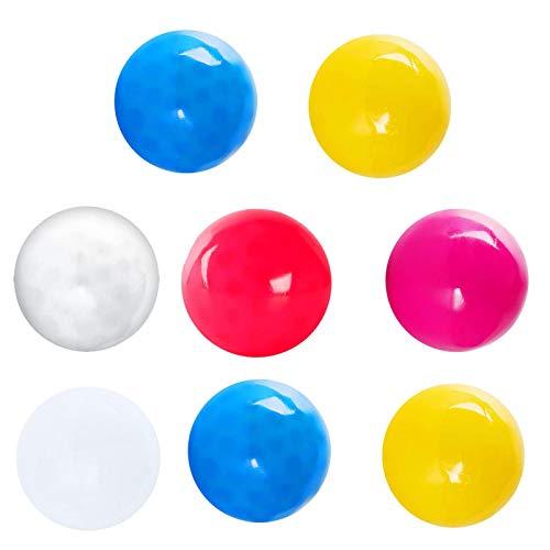 Hotsel Bolas de alivio del estrés adhesivas luminosas, juguete de descompresión adhesivo para niños y adultos, resistentes a las lágrimas, no tóxico, divertido juguete para TDAH, trastornos fo