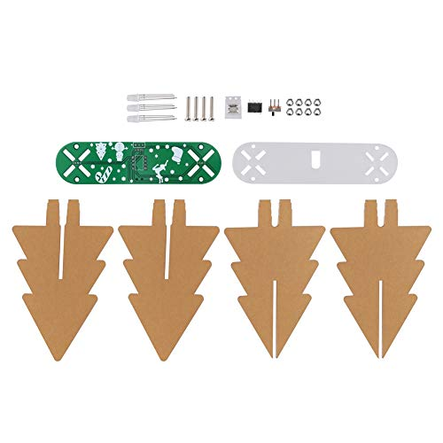 Acryl + PVC Materiaal Kerst LED Circuit Kit, DIY Kits Highlight Display Kerstboom LED Flash Kit, voor Feest Kinderkamers Kerst Ornamenten Feestelijk