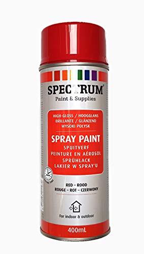 Lackspray Sprühlack Lackfarbe Acryllack 400 ml rot glänzend