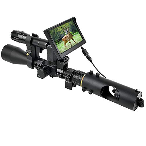 BESTSCOPE Night Vision Scope,850nm IR,5' Portable Display Screen,for...