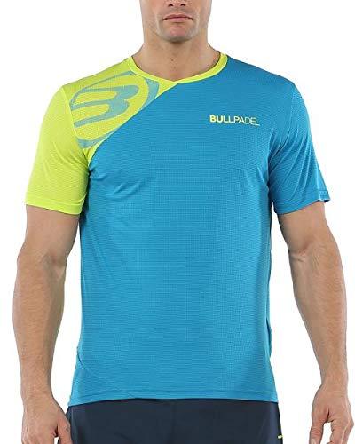 Bullpadel Camiseta Chamois, Hombre, Azul atomico/Lima, XL