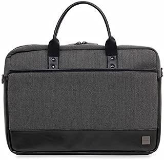 """Knomo Holborn Princeton, 15.6"""" Slim Lightweight Laptop Briefcase, Black"""