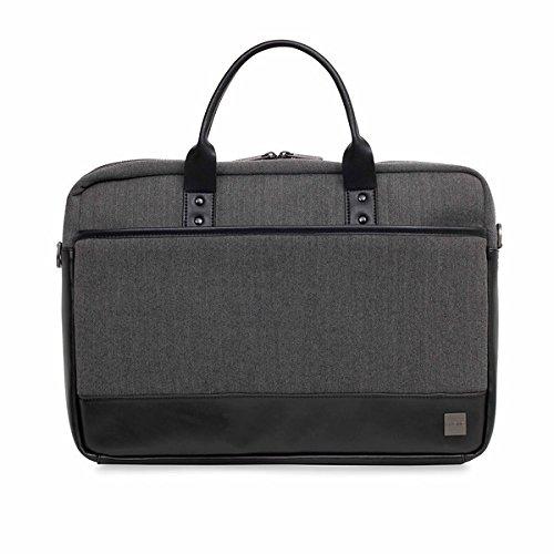 Knomo 43-201-BKG 'Princeton' Briefcase for 15.6-Inch Laptop - Grey