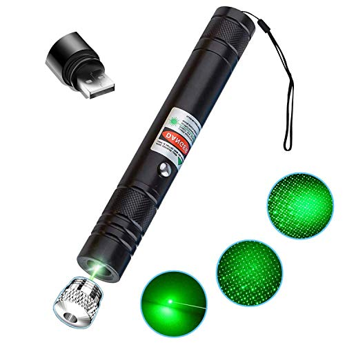 Skalozan High Power Long Range Tactical Flashlight,USB Charging Green Light Tactical Flashlight Green Shooting Flashlight with Visible Multiple Effects Beam for Conference,Hunting