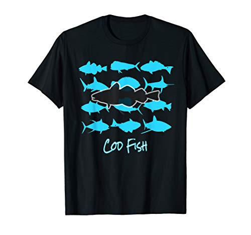 Kabeljau Reise Deep Sea Fischer Salzwasser Angeln Liebe T-Shirt