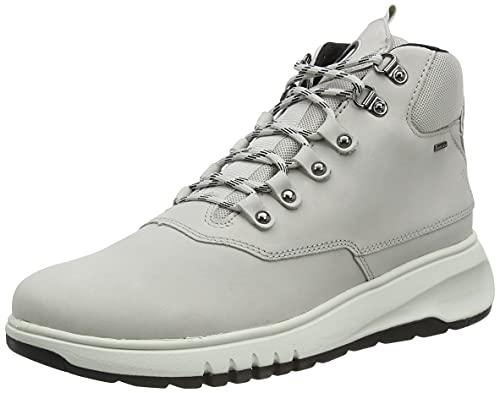 Geox D Kaula B ABX D, Snow Boot Mujer, Blanco (White/dk Grey C0672), 41 EU